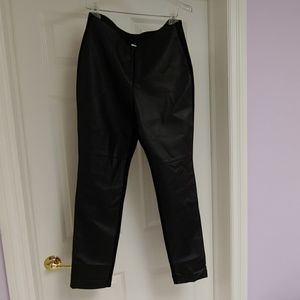 Chicos Leather Like pants size .5